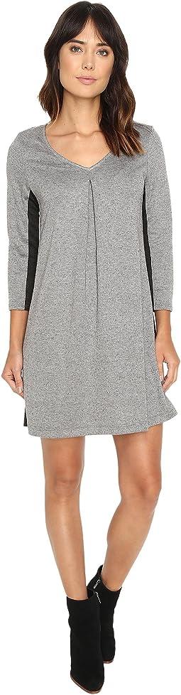 Birdseye Brushed Pique A-Line Mini Dress