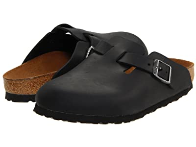 Birkenstock Boston Oiled Leather (Unisex) (Black Oiled Leather) Clog Shoes