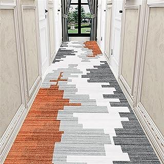 TONGQU Moderne Tapis de Passage, Géométriques Antidérapant Lavable Polyester Longue Tapis de Couloir pour Cuisine Salon En...