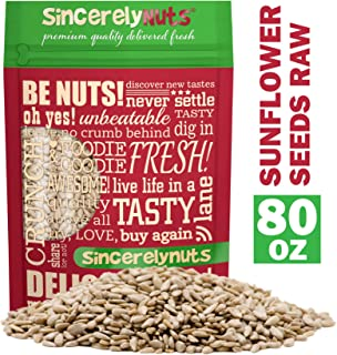Sincerely Nuts Sunflower Seed Kernels Raw (No Shell) (5lb bag) | Delicious Antioxidant Rich Snack | Source of Protein, Fib...