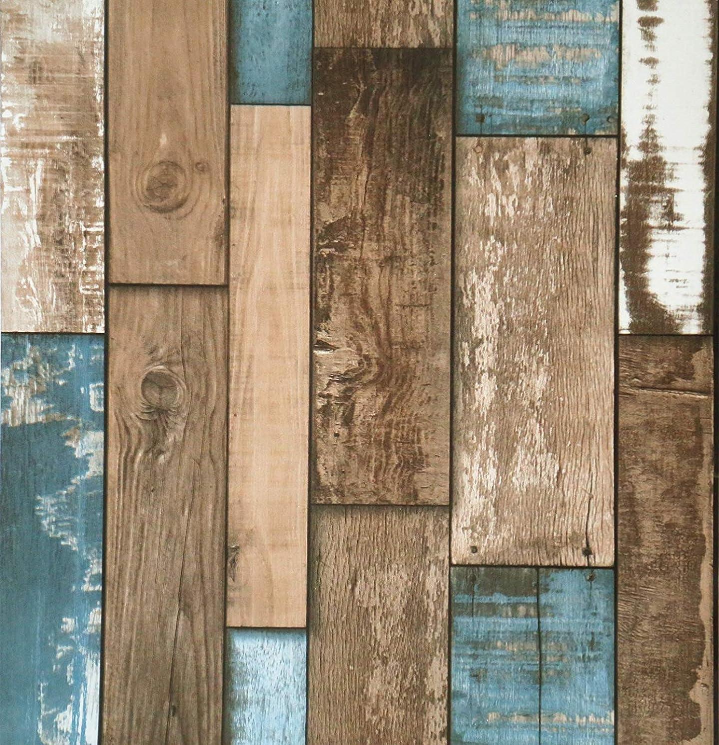 Vintage Peel and Stick Wood Wallpaper Self Adhesive for Furniture Kitchen Countertop Table Door DIY Chalkboard W17.7