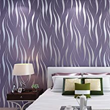 """Niet-geweven behang, luxe minimalistische golf stroomden behang rollen voor woonkamer slaapkamer muren 0.53m (20.8"""") * 10m..."""
