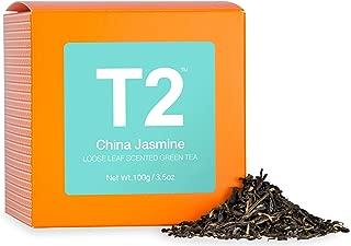 T2 Tea - China Jasmine Scented Green Tea, Loose Leaf Green Tea in a Box, 100g (3.5oz)