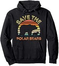 Save Polar Bears Hoodie Animal Vintage Retro Gift Tee