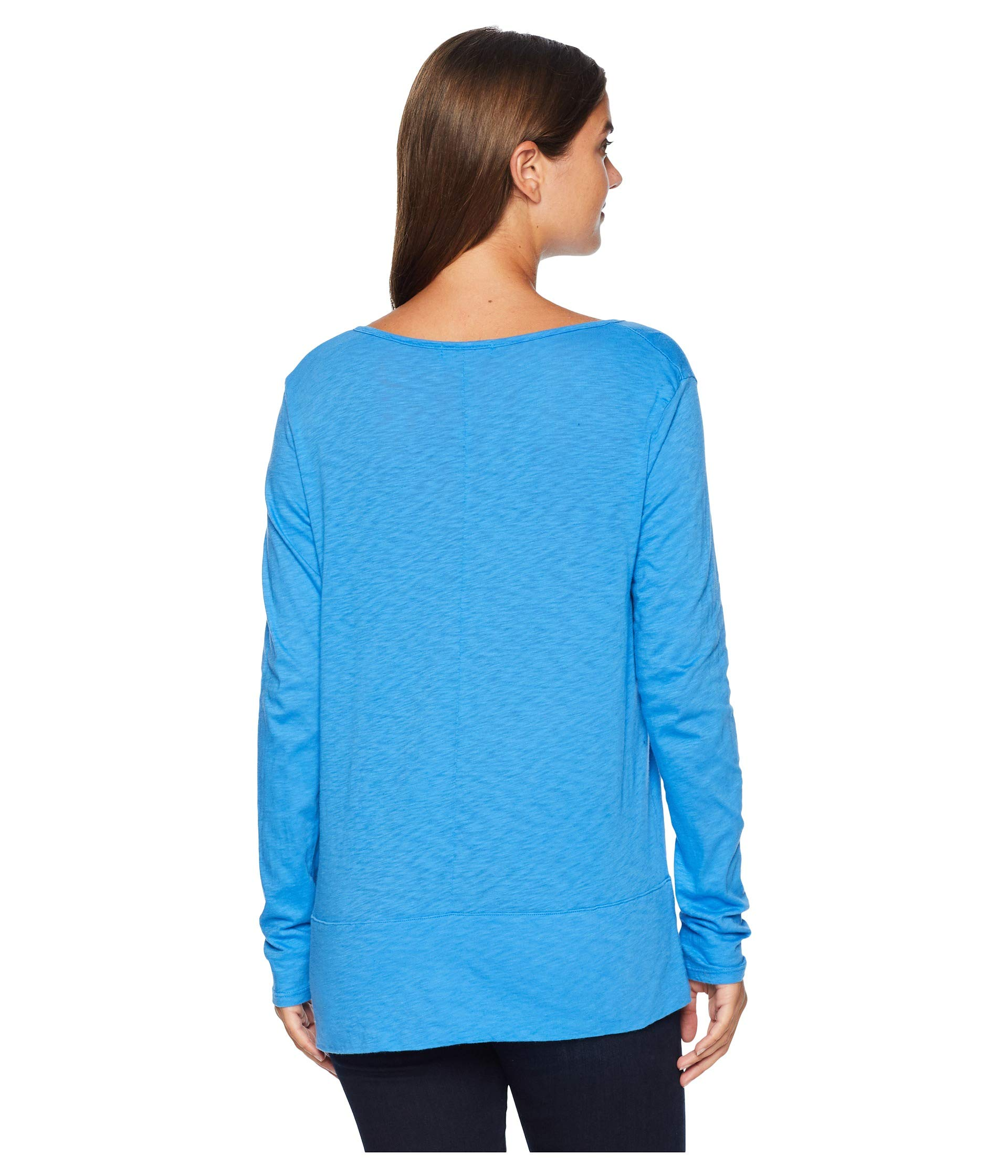 Tee neck Produce Atlantic Blue Sleeve Vintage Long Fresh Split tYHqRww