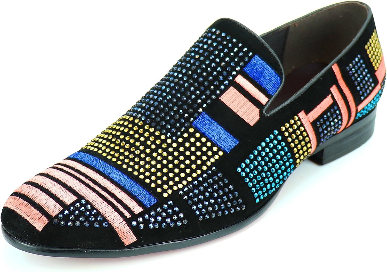 Fisso av Aurelio Garcia Garcia Garcia FI -7269 svart mocka Rhyestones Slip on Loafer - European skor Designs  med 60% rabatt rabatt