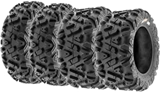 SunF Power.I ATV/UTV all-terrain Tire 22x7-12 Front & 22x10-12 Rear, Set of 4 A033, 6-PR, Tubeless