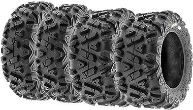 Set of 4 SunF Power.I AT 23x8-11 Front & 24x9-11 Rear ATV UTV all-terrain Tires, 6 PR, Tubeless A033
