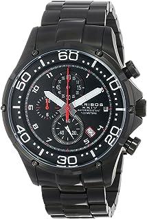 Akribos XXIV Men's 'Grandiose' Chronograph Watch - 3 Subdials with Date Window on Stainless Steel Bracelet - AK663