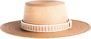 ASN Hats Women Straw Flat Top Holbox Natural One Size