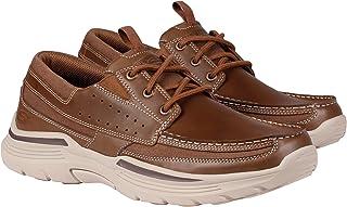 حذاء اكسبند مينسون من الجلد باربطة للرجال من سكيتشرز