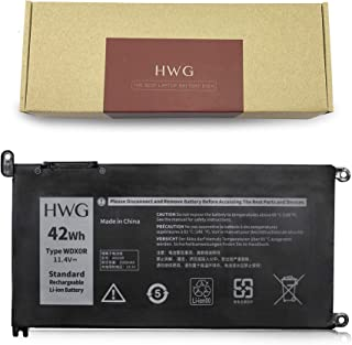 HWG WDX0R Laptop Battery Compatible Dell Inspiron 13 5378 5379 7368 Series, 14-7460 17-5770 Series, 15 5567 5568 7560 7570 Series Notebook Battery, Fits P/N: 3CRH3 T2JX4 WDXOR [11.4V 42WH]