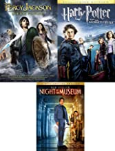 Greek Wizards & A Night at the Museum + Witchcraft and Wizardry Harry Potter Goblet of Fire & Percy Jackson Olympians: Lightning Thief & Sea of Monsters3 Movie Family Fantasy Pack