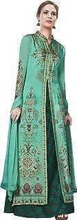 Sea Green Partywear Readymade Anarkali Style Suit
