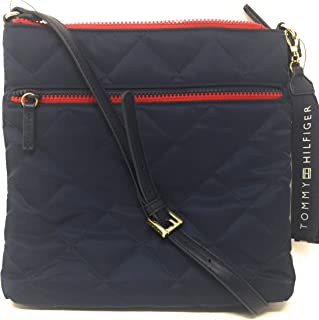 Tommy Hilfiger Womens Classic Atkins North/South Crossbody Quilted Nylon