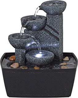 John Timberland Rowell Tabletop Water Fountain with LED Light 7 1/2