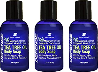 Defense Soap Body Wash Shower Gel Travel Size 2oz (Pack of 3)