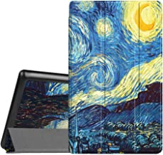 Fintie Slim Case for All-New Amazon Fire HD 8 Tablet (7th and 8th Generation Tablets, 2017 and 2018 Releases), Ultra Lightweight Slim Shell Standing Cover with Auto Wake/Sleep, Starry Night