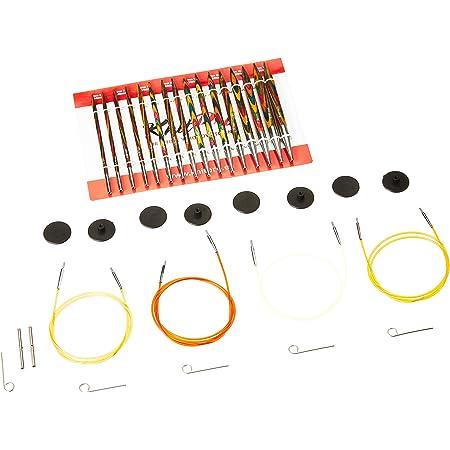 KnitPro KP20613 Symphonie, Interchangeables, Ensemble d'Aiguilles Deluxe, Bois, Multicolore, 9,5 x 1 x 2 cm