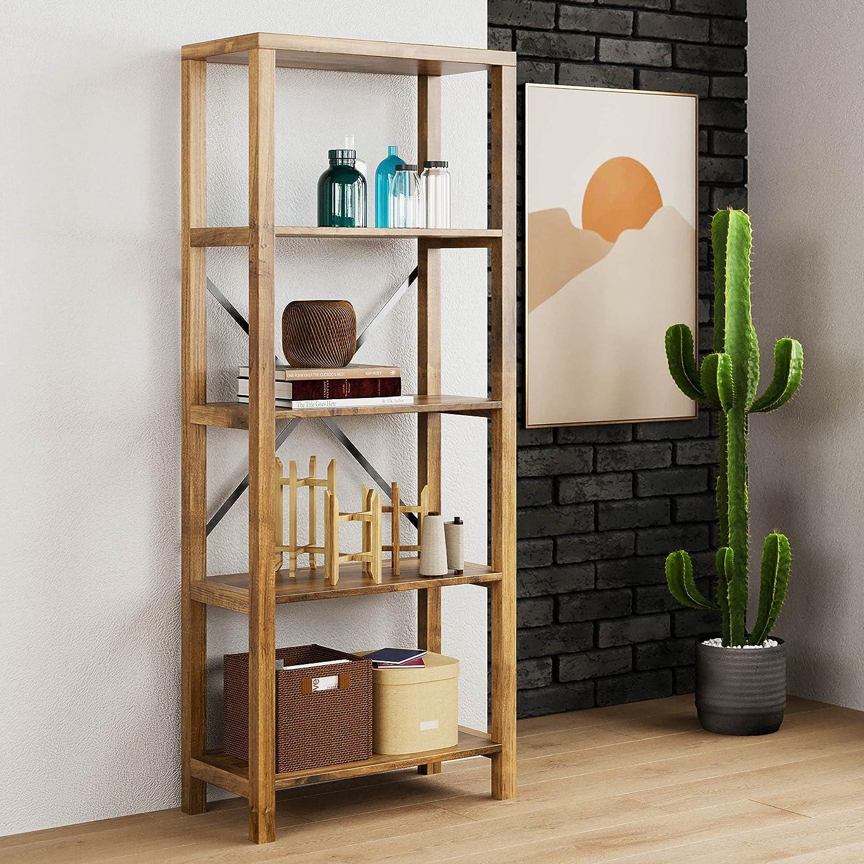 Landia Home Fashionable High quality new Bookshelf Industrial Design 5 Tier Bookcase Etagere