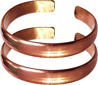 Hand Forged 100% Copper Bracelet ~ Made with Solid and High Gauge Pure Copper ~ Effectively Relief of Joint Pain, Arthriti...