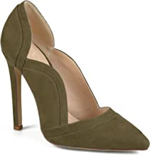 Journee Collection Womens Faux Suede Scalloped Pumps