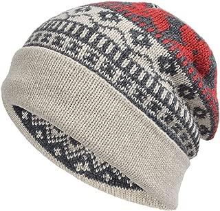 Cool Men Roll Knit Beanie Rectangular Winter Skullcap Top Hat B816 (B5026-Beige)