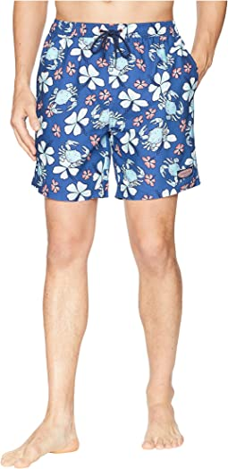 Crab Floral Chappy Swim Trunks