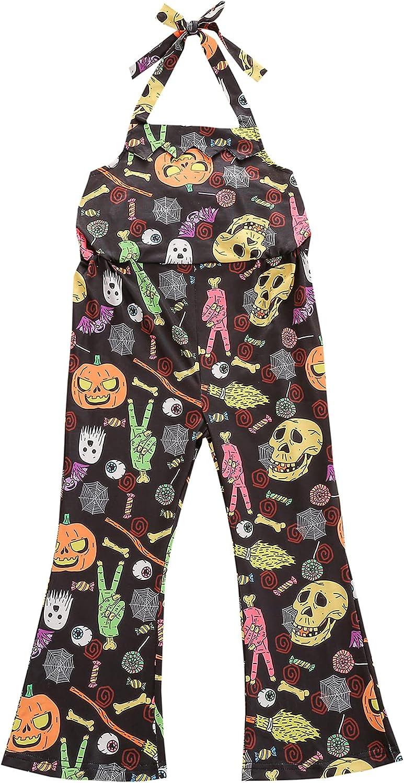 Infant Translated Halloween Halter Overalls Baby Cartoon Pumpkin Tie-up Pr OFFicial site