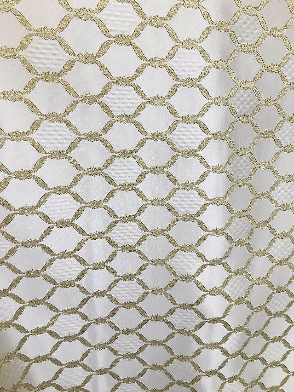 Fabric by The Yard - Light Diamond price Gold Fashionable Drape Upholstery Brocade