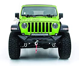 Restyling Factory - Black Textured Rock Crawler Front Bumper with 2x D-Ring and Built-In 21~23