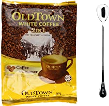 One NineChef Spoon + Old Town White Coffee (2 In 1 Coffee & Creamer, 4 Bag)