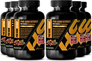 antioxidants Supplements for Women - Pine BARK Extract 100MG - Pine bark Extract pycnogenol - 6B (540 Capsules)