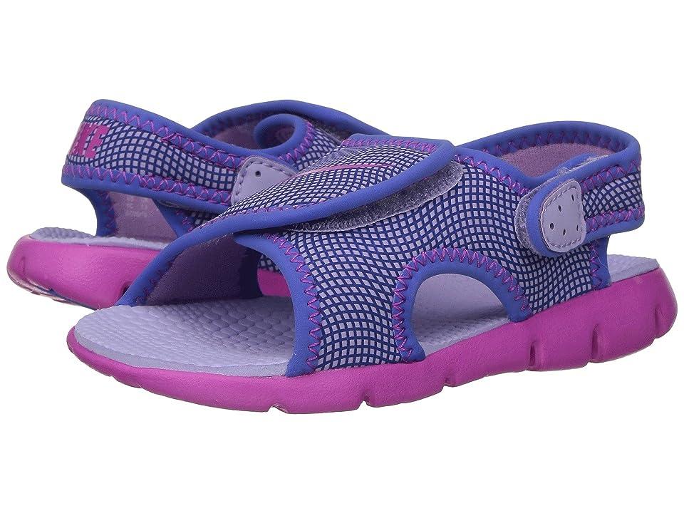 Nike Kids Sunray Adjust 4 (Infant/Toddler) (Hydrangeas/Fire Pink/Comet Blue) Girls Shoes