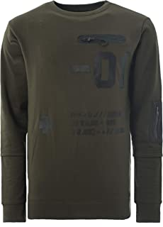 Soulstar Men's Sweatshirt Chest Army Pocket Printed Jumper