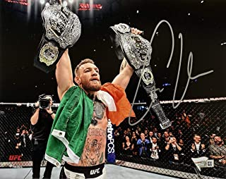 Conor McGregor Signed UFC Double Champ 8x10 Photo Fanatics - Fanatics Authentic Certified - Autographed UFC Photos