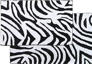Chesapeake Safari 2Pc. Black & White Zebra Bath Rug Set (21