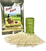Kona Kava Farm Premium Instant Kava Mix 9% Kavalactone | Kava Root Supplement for Stress and Anxiety Relief Available in Chocolate, Banana and Tropical | 6 Pack- 0.75 oz Each (Chocolate)