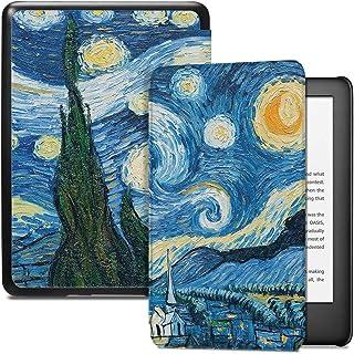 Capa para Kindle 10a geração (aparelho com iluminação embutida) - rígida - sistema de hibernação - Noite Estrelada (van Gogh)