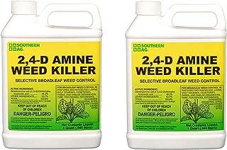 Southern Ag 2,4-D Amine Weed Killer Selective Broadleaf Weed Control geylNw, 2Packet (1 Quart)