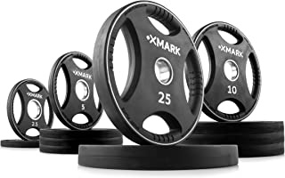 XMark Sport Plates, One-Year Warranty, Patented Design, Olympic Weight Plates, Pairs and Sets