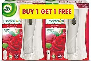 Air wick Air Freshener Freshmatic Auto Spray Kit, Midnight Rose, 2 Gadgets and 2 Refills, 2 x 250 ml