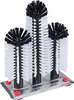 Gobesty Cepillo limpiacristales con ventosa Lazy Cup Brush Glass Fregadero Ventosa Base Limpieza de la botella Cepillo de fregado Limpiador de vasos de botellas de vidrio de pie