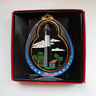 Nations Treasures Tybee Island Lighthouse Georgia Christmas ORNAMENT Souvenir Gift