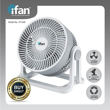 "PowerPac IFAN 8"" Floor Fan with Whole Room Air Circulator"