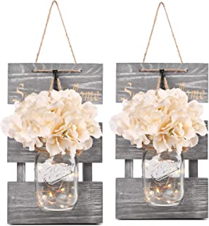Besuerte Rustic Lighted Mason Jars forFarmhouse,Home Decor,Living Room, Bathroom,..