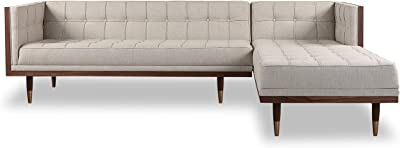 Admirable Amazon Com Kardiel Woodrow Midcentury Modern Box Sofa Ibusinesslaw Wood Chair Design Ideas Ibusinesslaworg