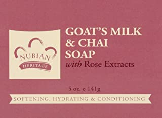Nubian Heritage/Sundial Creations Goat's Milk and Chai Soap, 6 Count
