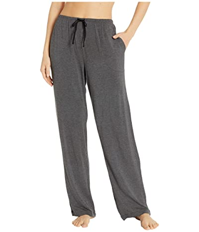 Donna Karan Modal Spandex Jersey Long Pants (Charcoal Heather) Women