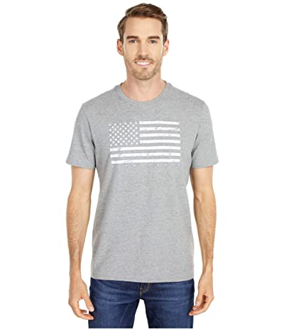 Life is Good Classic Flag USA Crusher Tee (Heather Gray) Men